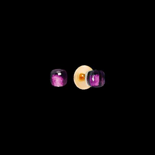 ORECCHINI NUDO - ORECCHINI IN ORO ROSA E ORO BIANCO CON AMETISTA - O.B601/O6/OI