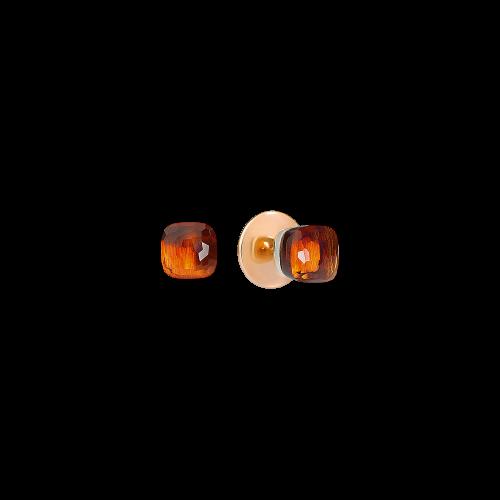 ORECCHINI NUDO - ORECCHINI IN ORO ROSA E ORO BIANCO, QUARZO MADERA - O.B601/O6/OV