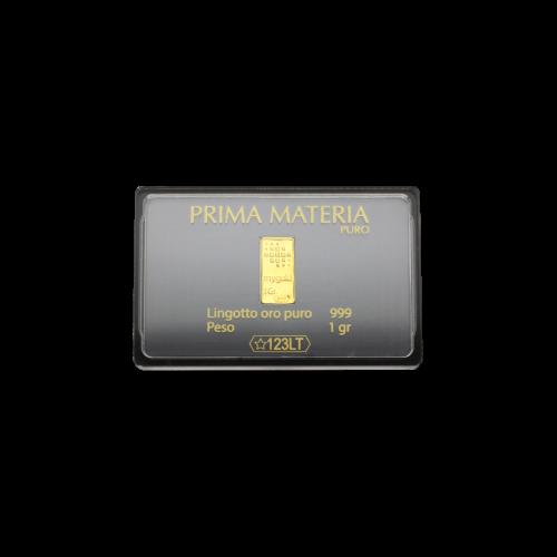 PRIMA MATERIA LINGOTTO ORO PURO 1 GR