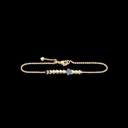 Bracciale stelle in oro rosa con zaffiri blu