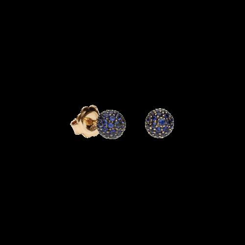 Orecchini in oro bianco 18 carati e zaffiri blu taglio brillante