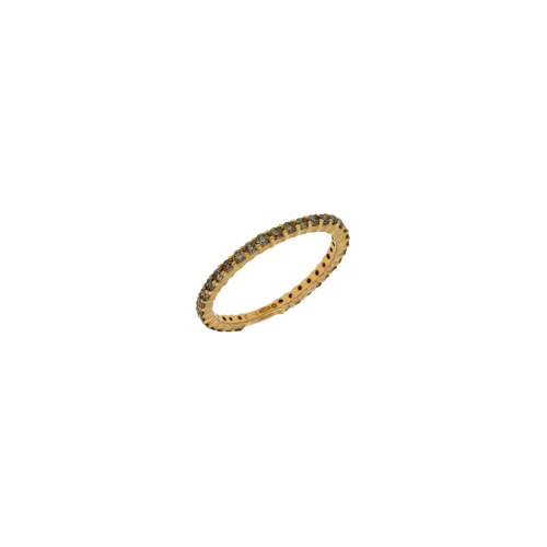 Veretta in oro rosa 18 carati e diamanti brown taglio brillante