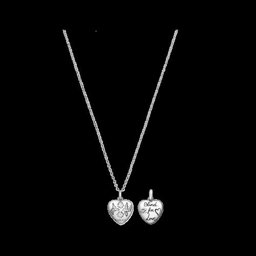 Collana Gucci Blind For Love in argento con ciondolo cuore inciso - YBB45554200100U