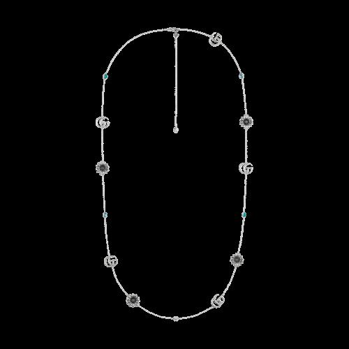 Collana Gucci GG Marmont in argento - lunghezza 90 cm - YBB52740200100U