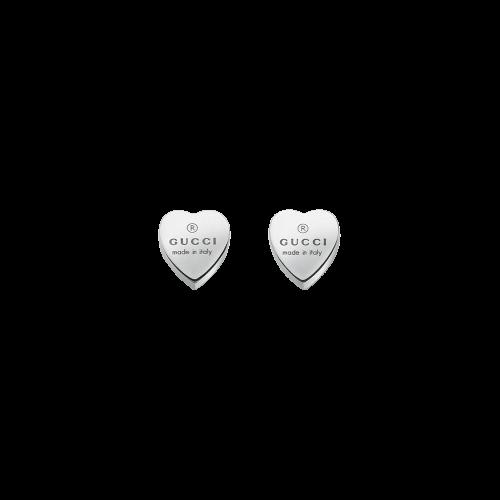 Orecchini Gucci Trademark in argento forma cuore - YBD22399000100U