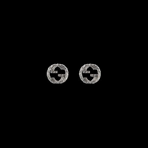 ORECCHINI GUCCI INTERLOCKING IN ARGENTO - YBD45710900100U