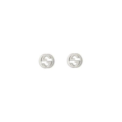 Orecchini Gucci Interlocking in argento GG a lobo - YBD47922700100U