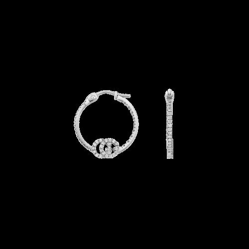 ORECCHINI GG RUNNING CON DIAMANTI - YBD58198200100U