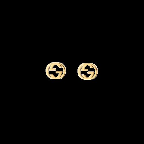 ORECCHINI GUCCI INTERLOCKING IN ORO GIALLO - YBD66211100100U
