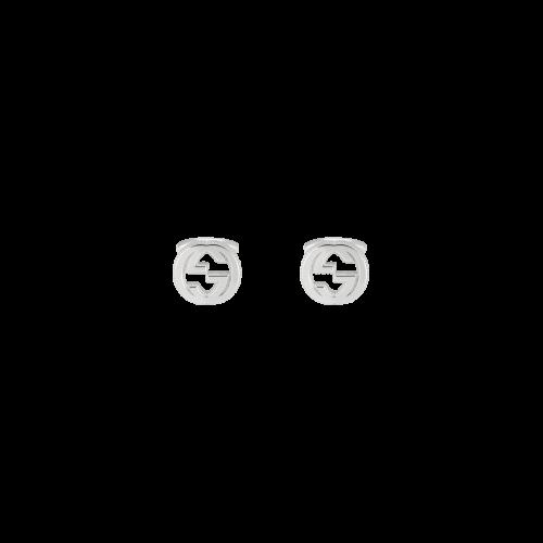 Gemelli Gucci Interlocking in argento GG logo - YBE49901000100U