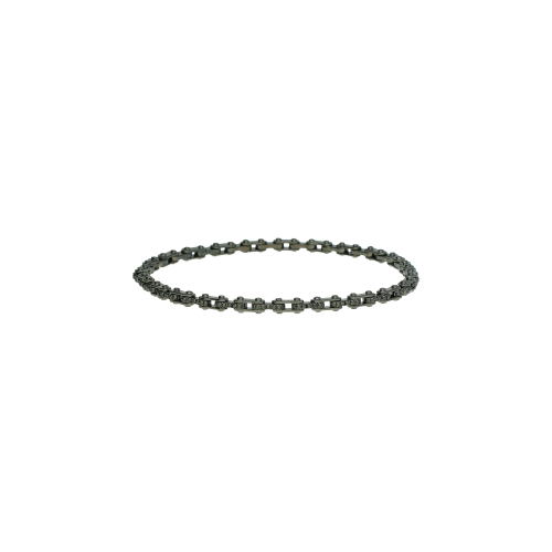 Bracciale in oro brunito con diamanti neri e uno bianco