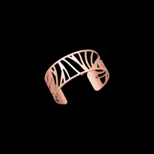 Bracciale placcato rosÈ spessore 25 mm - possibilità scelta delle pelli colorate all'interno del bracciale
