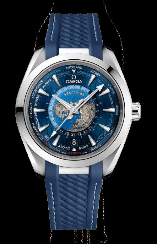 SEAMASTER AQUA TERRA 150M OMEGA CO-AXIAL MASTER CHRONOMETER GMT WORLDTIMER 43 MM - 220.12.43.22.03.001