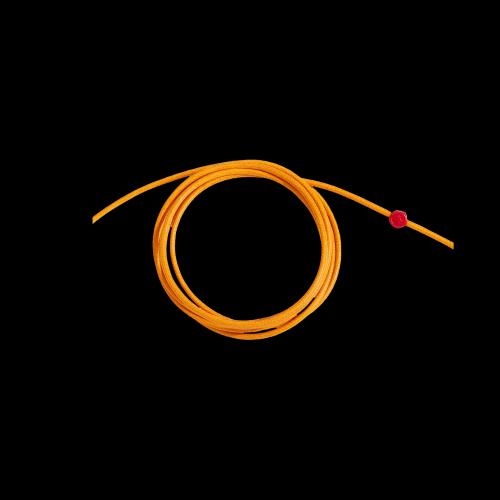 DODO CORDINI - CORDINO SPESSO - Cordino arancio spesso con sigillo in resina rossa - DC.CAY3/R