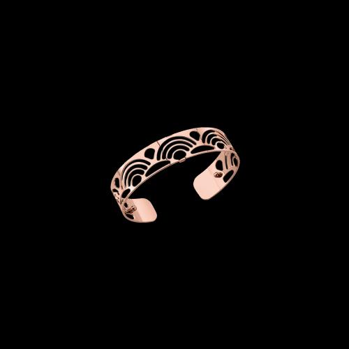 Bracciale placcato rosÈ spessore 14 mm - possibilità scelta delle pelli colorate all'interno del bracciale